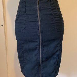 New rampage zipper up front skirt